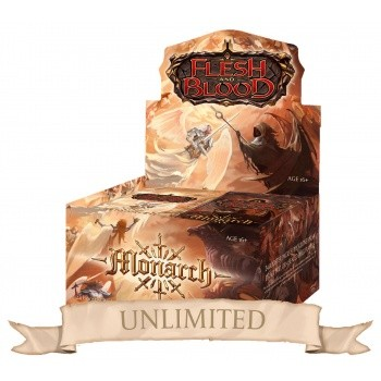 Monarch Unlimited Booster Display - Flesh & Blood TCG