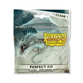 Dragon Shield Standard Perfect Fit Sideloading Sleeves - Clear (100 Sleeves)