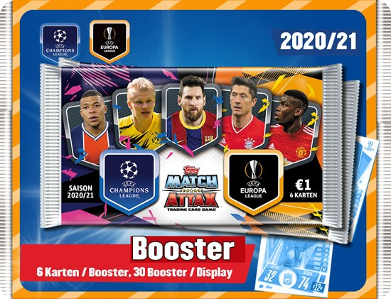 Match Attax Champions League 2020-2021 - Booster Display